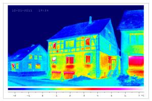 termografia di una villa