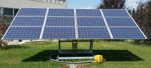 impianti fotovoltaici pannelli solari manutenzione fotovoltaico bergamo assistenza Inseguitore solare della nostra sede aziendale